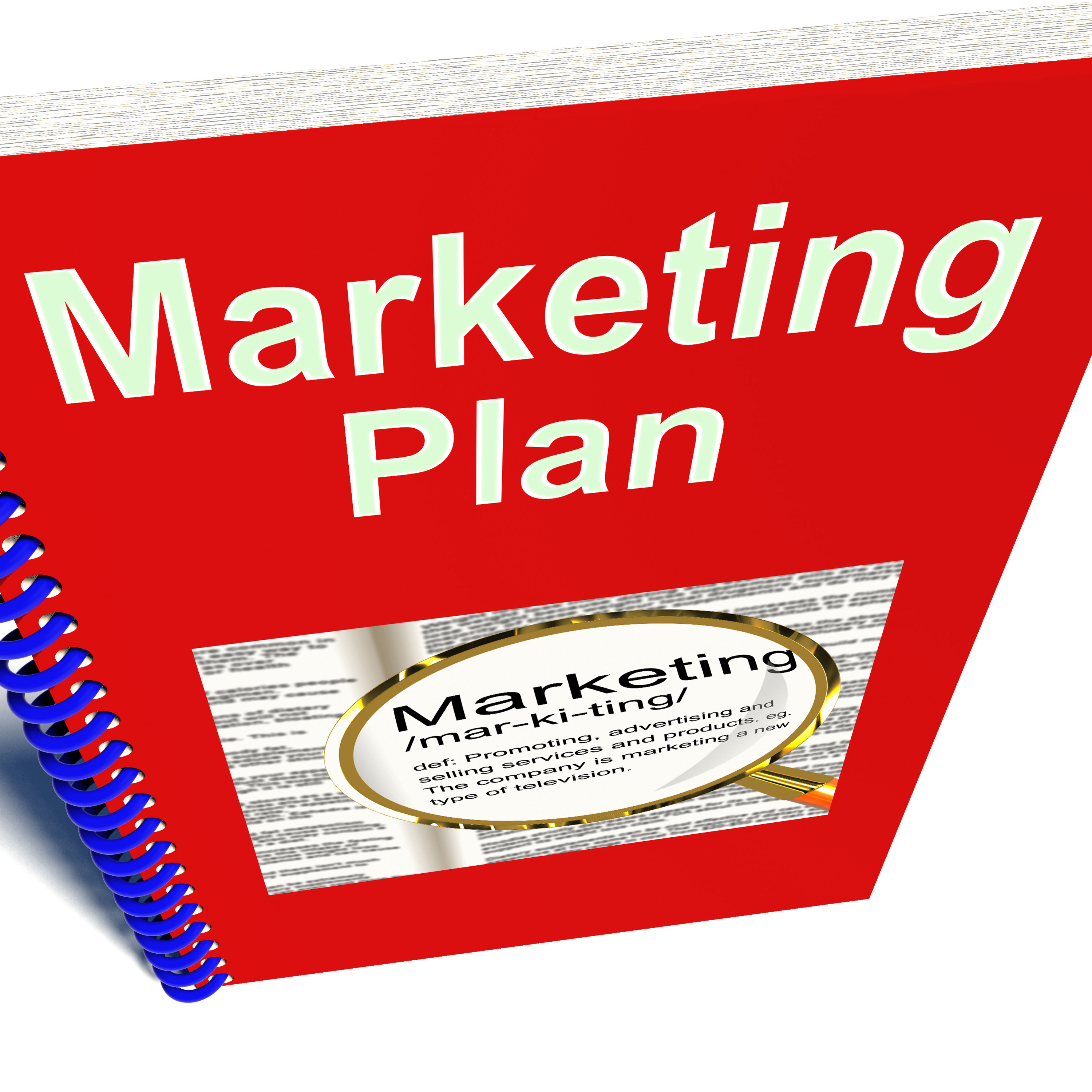 Marketing Plan Book Shows Promotion Strategy Report