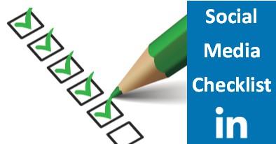 Social Media Checklist LinkedIn