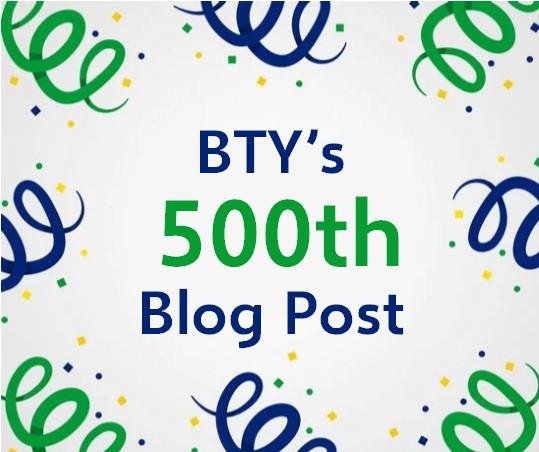 500th Blog Post Graphic