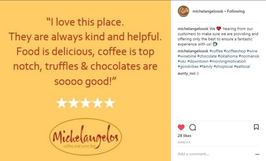 Instagram Blog Testimonial
