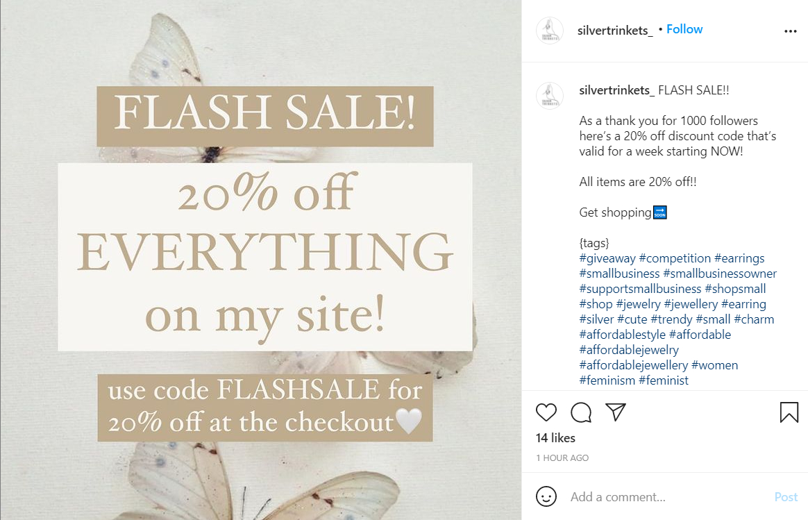 Instagram Post Flash Sale